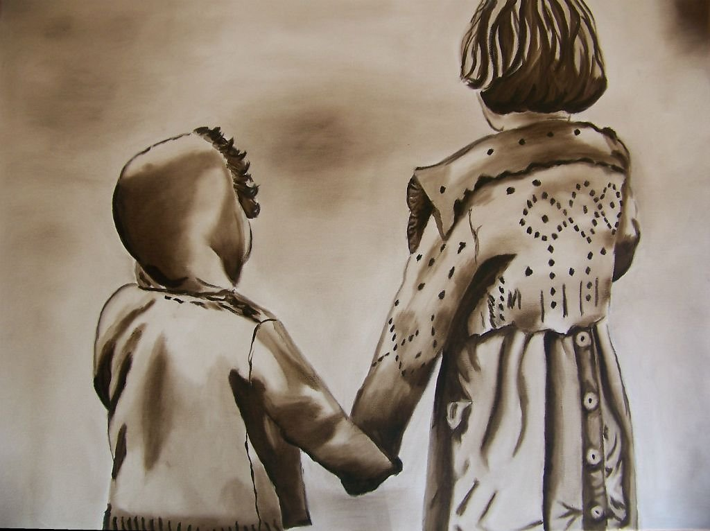 Together alone, 60*80cm