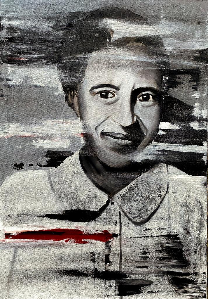 """""""Resistance"""", Rosa Parks, 100*80 cm"""